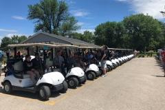 Golf Carts shot Gun Start